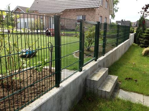 Gartenzaun Metall Sichtschutz Zaun Steinzaun