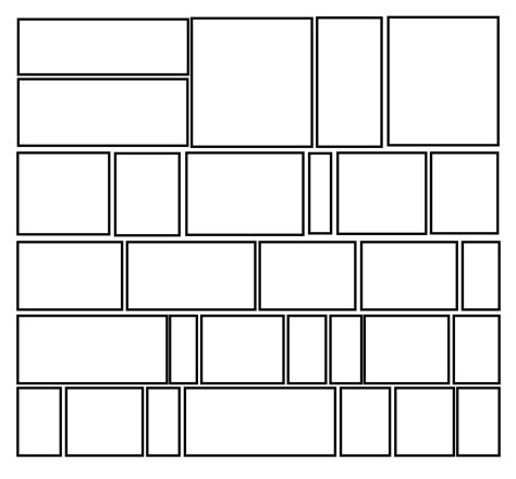 comic panel template search results for blank comic book panels templates