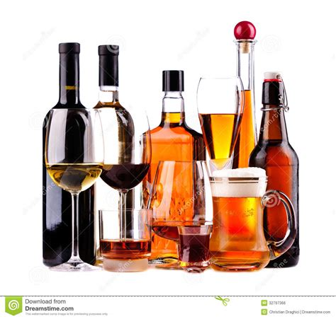 alcoholic drinks bottles different alcoholic drinks stock photo image of shot