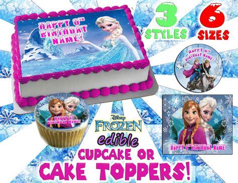 disneys frozen birthday cake topper edible paper sugar cupcake decal transfer ebay