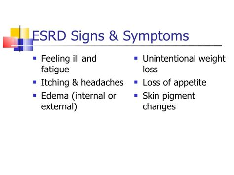 failure symptoms end stage end stage renal disease rcp