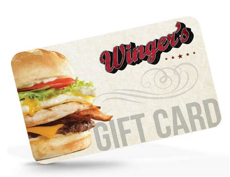 Gifts For Everyone Gift Cards For All Tastes by Restaurant Wingers Roadhouse Grill And Bar
