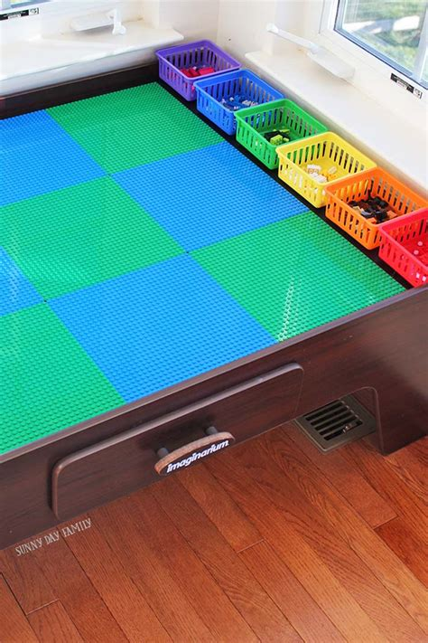 lego table plans turn your table into a lego table with color coded