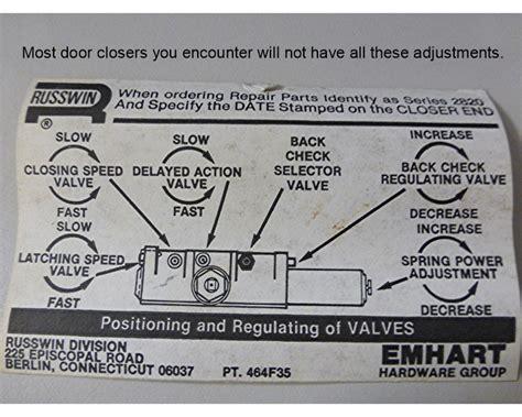 Door Closers Adjustment Crl7170 Crl Medium Duty 105 186 Overhead Door Closer Adjustment