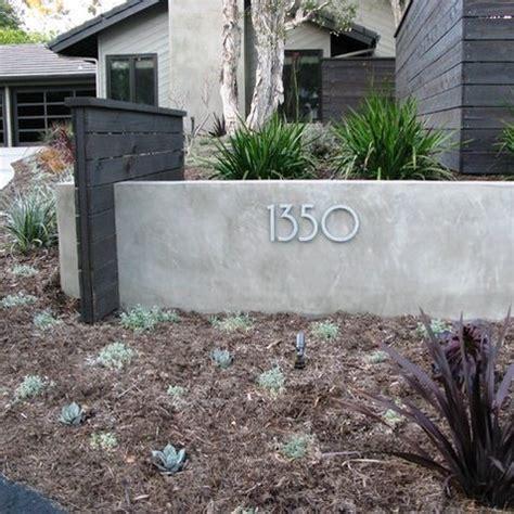 wall  address    concept   front yard backyard remodel modern