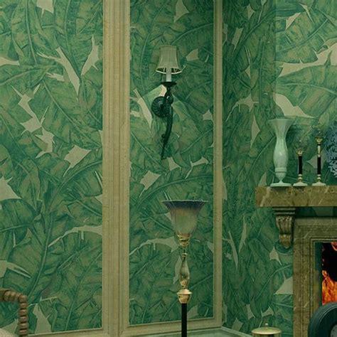 classic green wallpaper classic green big banana leaves wallpaper roll 10m wall