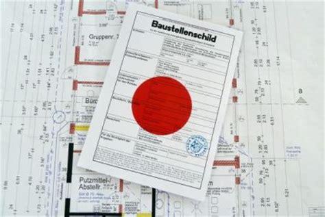 Baustellenschild Roter Punkt by Die Baugenehmigung Kreis Minden L 252 Bbecke