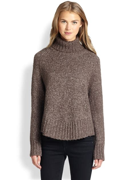 Chunky Knit Sweater lyst feel the kingsley chunky knit turtleneck