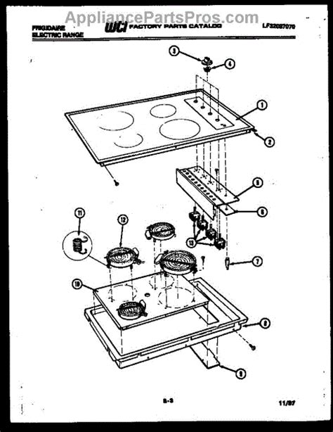 Frigidaire Cooktop Replacement Parts parts for frigidaire rb136cdb0 cooktop parts appliancepartspros