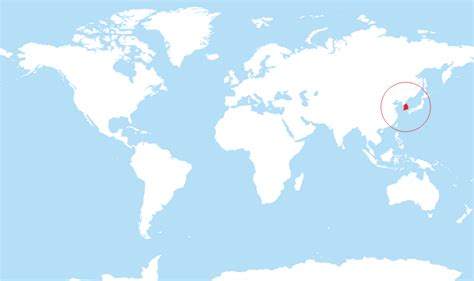 south korea located   world map