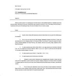 Oracle Dba Resume Sle by Oracle Resume Sle Resume Cv Cover Letter