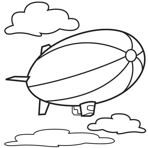 Hot Air Balloon Template Printable Coloring Home Air 5 Coloring Page