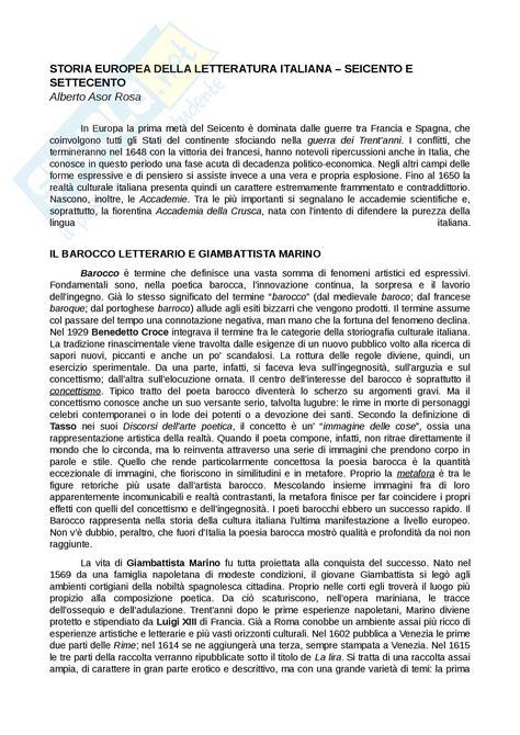 riassunto testo riassunto esame testi e questioni di letteratura italiana