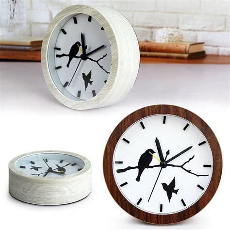 cool creative fashion wooden wood birds retro powered desk alarm clock ebay