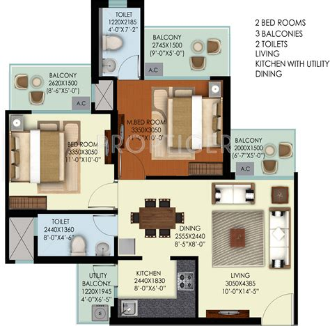 1000 sq ft apartment 1000 sq ft 2 bhk 2t apartment for sale in mahagun group marvella sector 16c noida extension noida