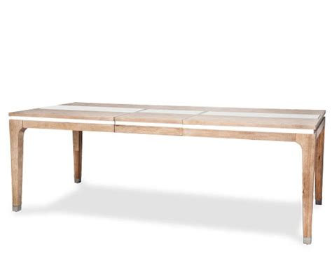 Aico Dining Table Aico 4 Leg Dining Table Biscayne West In Sand Finish Ai 80000 102
