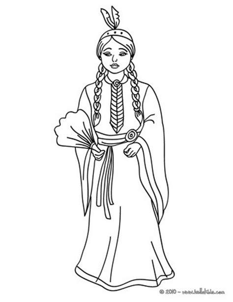 indian princess coloring page comanche princess picture coloring pages hellokids com
