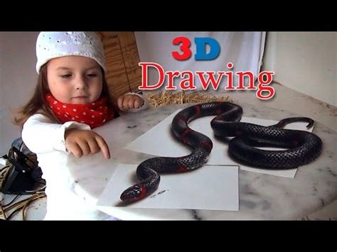 best 3d painting 3d drawing of a lifelike snake painting optical illusion
