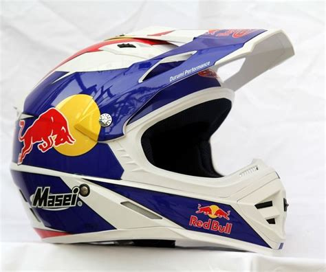 red bull helmet motocross masei hjc cirus white 307 red bull enegry drinks atv