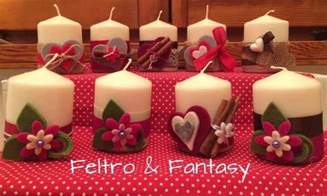candele decorate a mano oltre 1000 idee su decorazioni natalizie col feltro su
