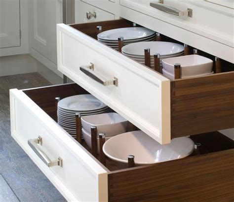 Kitchen Drawers For Dishes Dish Peg Dividers In Wide Drawers Ideas Cabinet