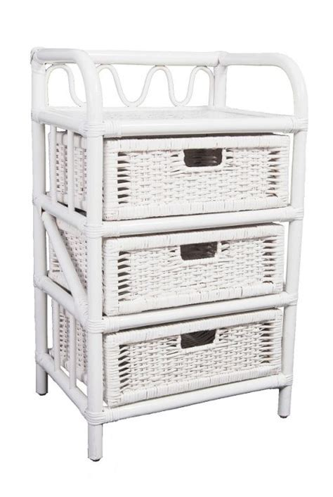 buy wicker valley 3 drawer storage unit white from our