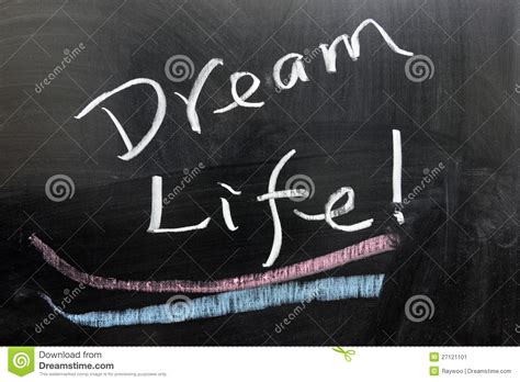 life dream dream life stock image image 27121101