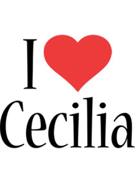 cecilia logo  logo generator  love love heart