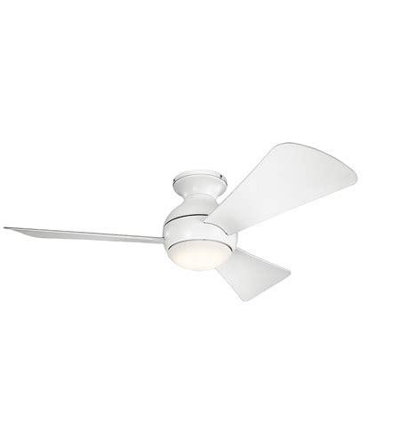kichler sola ceiling fan kichler 330151mwh sola 44 inch matte white ceiling fan