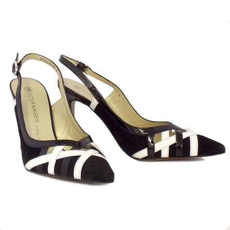 black and white shoes kaiser dixi black and white leather