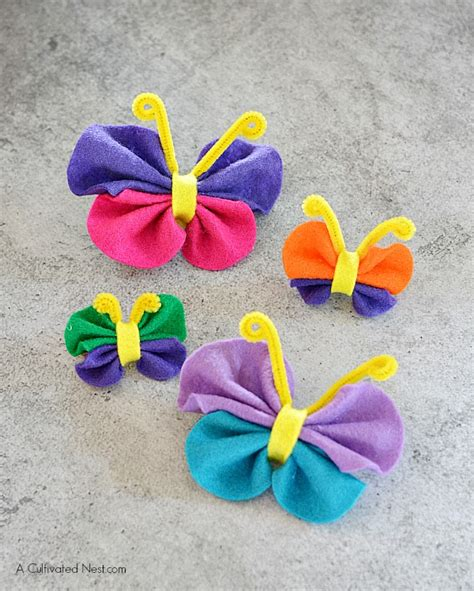 felt crafts easy no sew felt butterfly craft