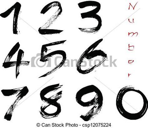 numeri clipart illustrazioni vettoriali di numeri 0 9 scritto con 224