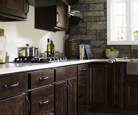 gray kitchen cabinets homecrest cabinetry buckboard cabinet finish on rustic hickory homecrest