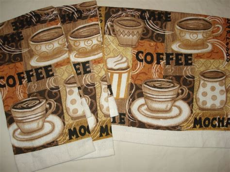 Cafe Latte Kitchen Decor by Coffee Cups Cafe Mocha Latte Decor Printed Kitchen Bar