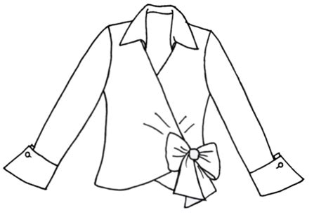 blouse drawing blouse styles