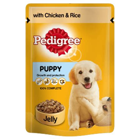 Pedigree Pouch pedigree puppy pouch with chicken and rice in jelly