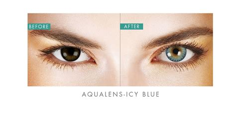 color contact lens aqualens icy blue color contact lens 1 lens box rs 425