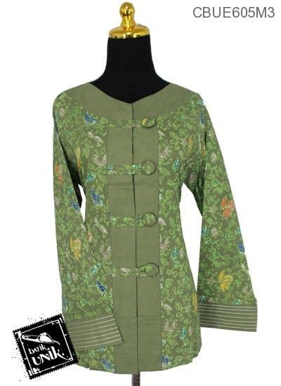 Baju Sepeda Rangcing Warna Warni baju batik aida motif warna warni bunga blus lengan panjang murah batikunik