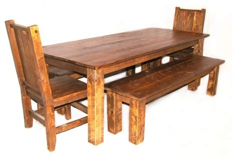 farmhouse table with benches chairs
