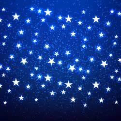 Free vector shiny stars blue background