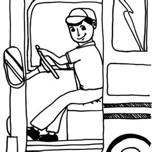 coloring page of school bus driver dedicated school bus driver coloring pages best place to