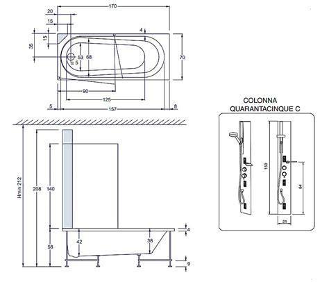 dimensione vasca idromassaggio vasche da bagno dimensioni ridotte accessori vasca da