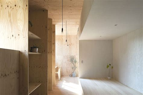 plywood interior design contemporary japanese interior with yellow larch plywood