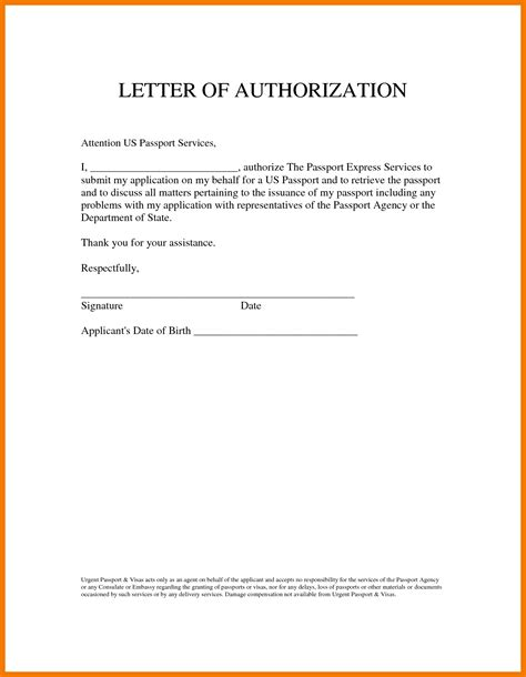 authorization letter template to collect 5 authorization letter to act on my behalf mailroom clerk
