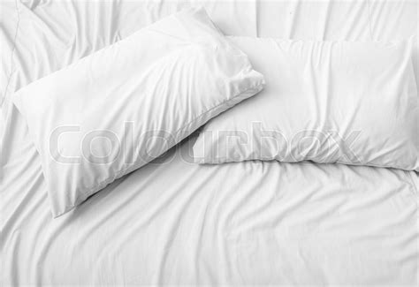 pillow on the bed background stock photo colourbox - Bett Hintergrund