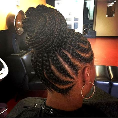 show some different inside up cornrow stytles 50 updo hairstyles for black women ranging from elegant to