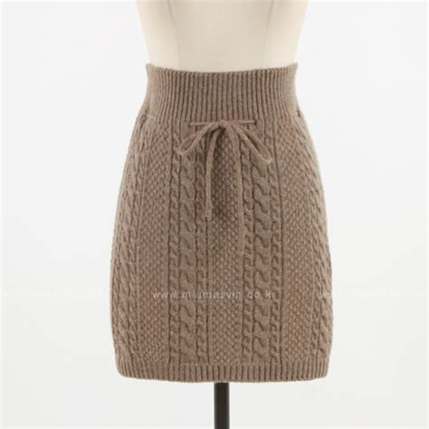 cable knit skirt miamasvin cable knit drawstring skirt kstylick