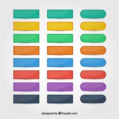 button color html colors web buttons set vector free