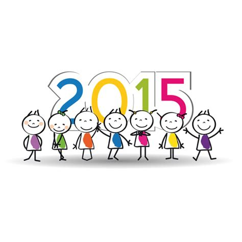 new year 2015 song free 2015 new year and child design vector 04 vector festival