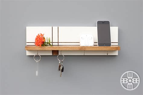 Shelf With Key Hooks by Wood Shelf With Key Hooks